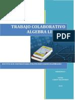 TRABAJO COLABORATIVO ALGEBRA LINEAL I