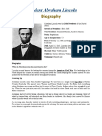3Biography Abraham Lincoln
