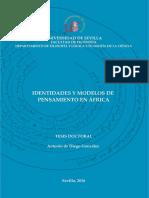 De Diego 'Identidades y modelos de pensamiento en África'