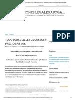 TODO SOBRE LA LEY DE COSTOS Y PRECIOS JUSTOS. - ORIENTACIONES LEGALES ABOGADA GUZMAN.pdf