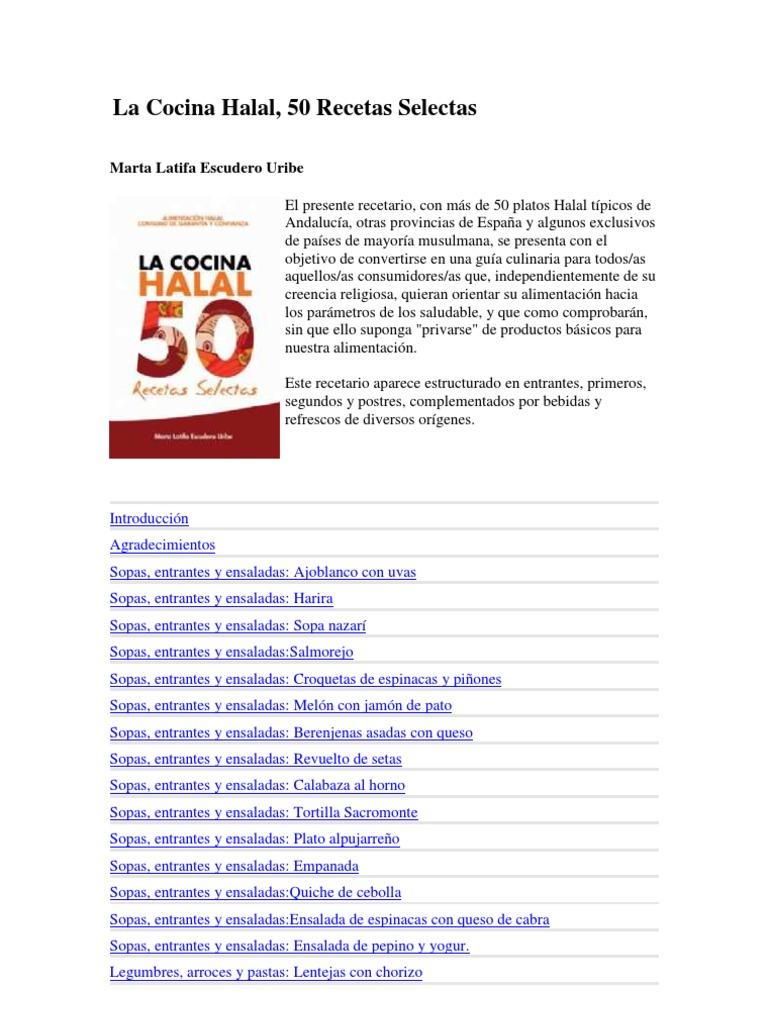 La cocina Halal - Marta Latifa Escudero