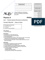 Unit 1 - Particles Quantum Phenomena and Electricity Question Paper 2010 06