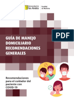 Guía de manejo domiciliario recomendaciones generales