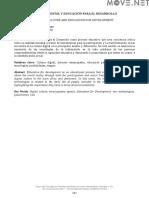 CULTURA DIGITAL Y EDUCACIÓN PARA EL DESARROLLO