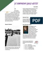 newsletter fall 2019