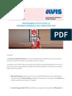 PROGRAMMA ATTIVITÀ PER LA GIORNATA MONDIALE DEL DONATORE 2020