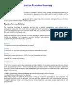 Abstract vs Executive Summary