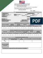 Formulario en Blanco - Registro mensual del cumplimiento del calendario escolar