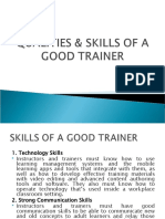 MTD - SKILLS & QUALITIES OF A TRAINER