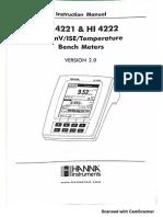 HANNA 4221 instructivo de manejo