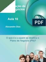 Aula_10 ADMINISTRAÇÃO DE NOVOS NEGÓCIOS