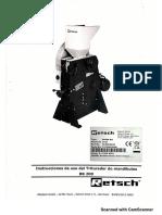 RETSCH BB 200 Instructivo de manejo
