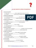 Verbos - Formas verbais homófonas e parónimas