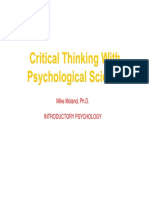 2017 - PSYC1100 - Chapter 1 - Critical Thinking