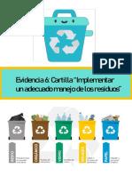 """Cartilla """"Implementar un adecuado manejo de los residuos"""""""