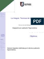 Integración porsustitución trigonométrica