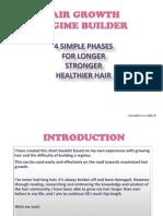 Hair Growth Regime Builder