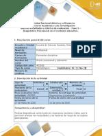 Guía de actividades y rúbrica de evaluación - Fase 3 - Diagnóstico Psicosocial en el contexto educativo (1)