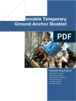 Removable Temporary Ground Anchor Booklet