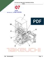 Parts Manual Takeuchi Tb007 Pb4-101z6