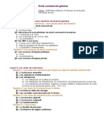 Plan Droit Commercial General