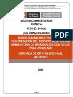 bases de licictacion Loayza hemodialisis 2013