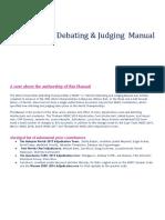 Thailand WUDC 2020 Debating & Judging Manual