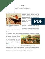 ORIGEN Y COMPOSICIÓN DE LA LECHE