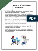HERRAMIENTAS DE LA OFICINA DE LA SECRETARIA