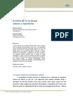 A crítica de TV no Brasil valores e repertórios - Soares, Serelle - 2013