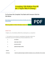 Advanced Accounting 12th Edition Paul M Fischer William J Taylor Rita H Cheng – Test Bank