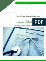 Cuestionario de Clínica Propedéutica