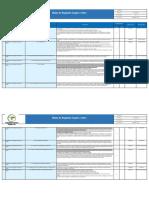 Matriz de requisitos legales y otros
