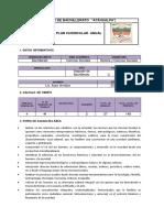 Plan Curricular Anua - Historia