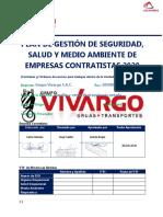 PLAN DE GESTIÓN DE SSOMA 2020 - VIVARGO