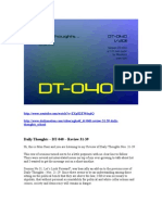 DT-040 - Review 31-39 - Daily Thoughts