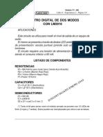 VUMETRO DIGITAL DE DOS MODOS  CON LM3916 Nº 168