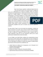 Estudio de Fuente de Agua Casinta, Bellavista, Bethania (1)