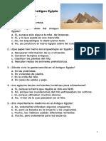 El Antiguo Egipto- Comprensión Lectora