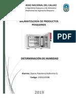 Cuestionario 02 -DETERMINACION DE HUMEDAD - Quiroz Katherine