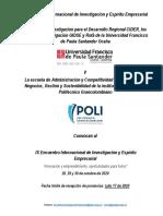 CONVOCATORIA PONENCIAS VIII ENCUENTRO INTERNACIONAL DE INVESTIGACIÓN Y ESPÍRITU EMPRESARIAL (1)