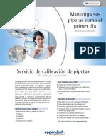 SERVICIO DE CALIBRACIÓN DE PIPETAS