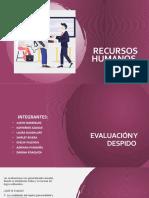 Recursos humanos - Evaluación y Despido