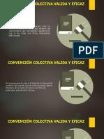 Validez de las convenciones colectivas