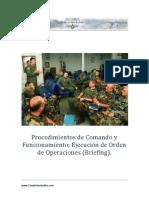 Principales Procedimientos de Comando de Funcionamiento