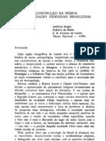Seeger, Da Matta & Viveiros de Castro - A Contrucao Da Pessoa Nas Sociedades Indigenas Brasileras