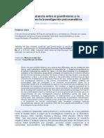 Salvando la distancia entre el positivismo y la hermenéutica en la investigación psicoanalítica