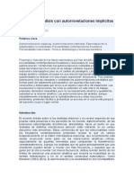 Facilitar el análisis con autorrevelaciones implícitas y explícitas