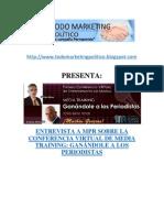 Entrevista a MPR sobre la conferencia virtual de Media Training