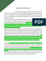 La génesis de la Colombia actual.E1